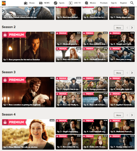 POLDARK ON HOTSTAR
