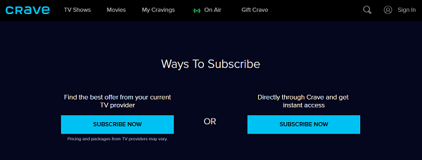 crave-tv-subscribe-methods