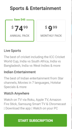 Stream Hotstar outside India