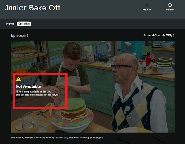 error junior bake off