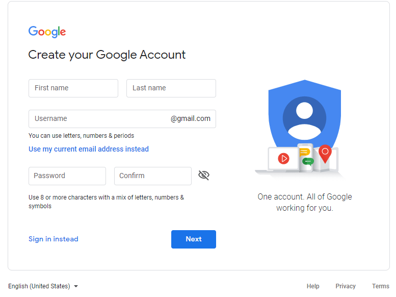 How to create Google ID