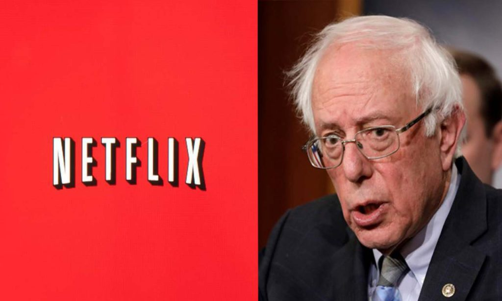 Sanders Takes A Shot On Netflix- No Federal & State Taxes Paid