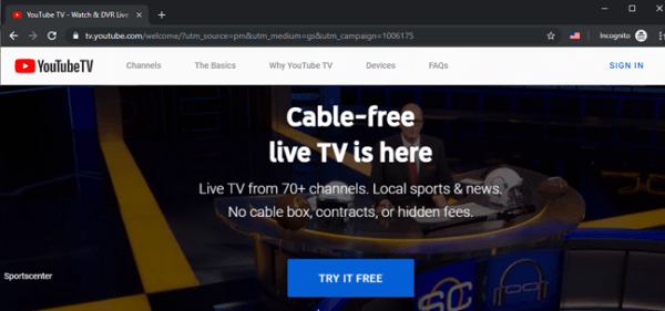 steps to unblock YouTube TV Outside US