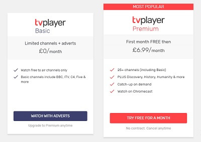 tv player pricing plans