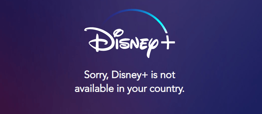 Disney Plus Geo Restriction error in Europe