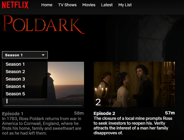 POLDARK ON Netflix